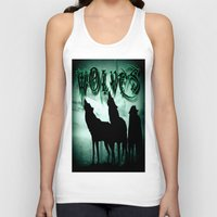 wolves Tank Tops featuring WolveS by shannon's art space