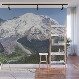 Mount Rainier on the Sunrise Side Wall Mural
