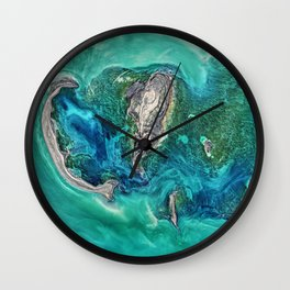 Ice Scours the North Caspian Sea Wall Clock