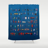 turkey Shower Curtains featuring TURKEY PEOPLE by Johnny Bull