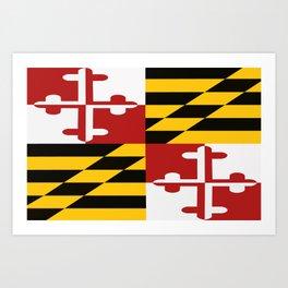 Maryland Colours Art Print