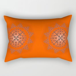 Holloween Crossbones Medallion Rectangular Pillow