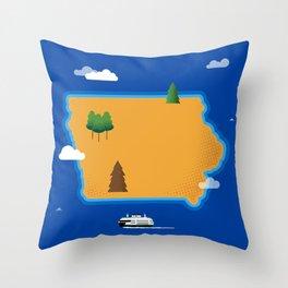 Iowa Island Throw Pillow