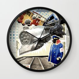 COLLAGE: Trains Wall Clock