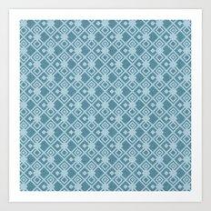 squared pattern Art Print