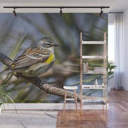 Yellow Rumped Warbler in May Wall Mural