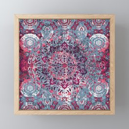 Vintage Boho Burgundy Mandala Framed Mini Art Print