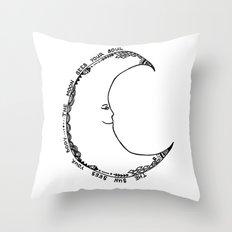 Moon Doodle Throw Pillow