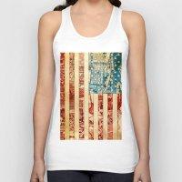 usa Tank Tops featuring USA by Bekim ART