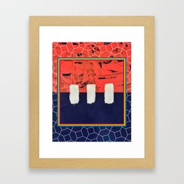 Stitch in Time - color square graphic Framed Art Print