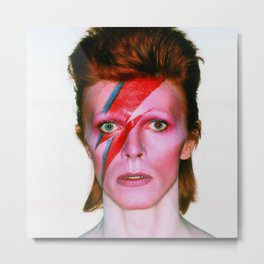David Bowie Pop Star Metal Print