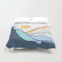 Minimalistic Landscape II Duvet Cover