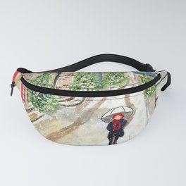 Snowfall in Quebec City Fanny Pack