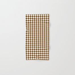 Small Diamonds - White and Chocolate Brown Hand & Bath Towel