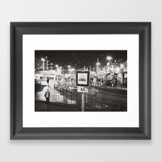 bus stop Framed Art Print