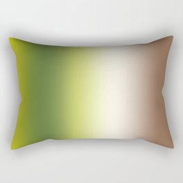 Ombre Shades of Green 1 Rectangular Pillow