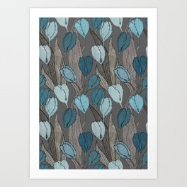 Tulip field on cacao brown Art Print