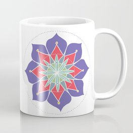 Purple Merrymaking Mandala Coffee Mug