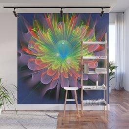 Space Flower Wall Mural