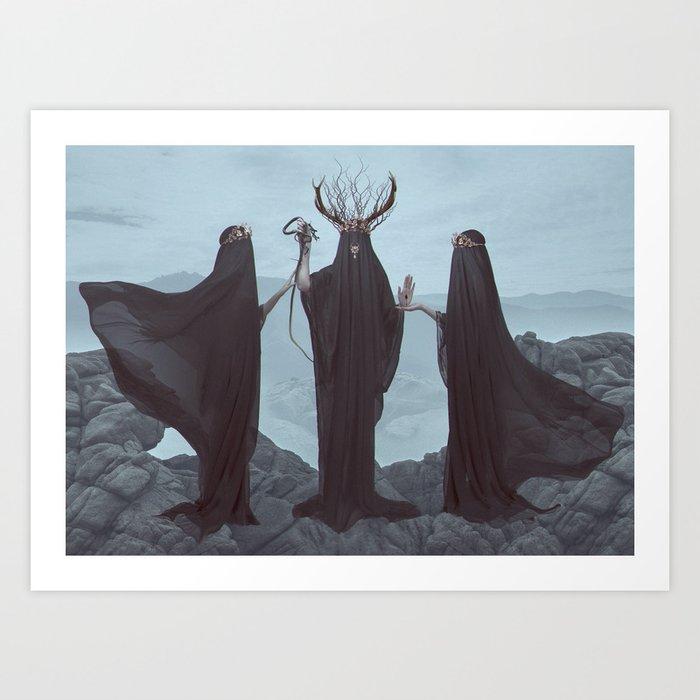 Unholy Trinity Art Print