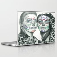 lindsay lohan Laptop & iPad Skins featuring Meryl Streep and Lindsay Lohan  by Jimmy Lee
