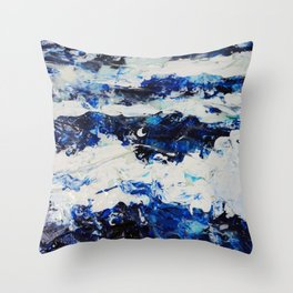 Waves I Throw Pillow