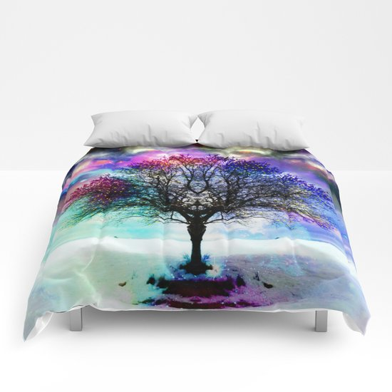winter beauty Comforters