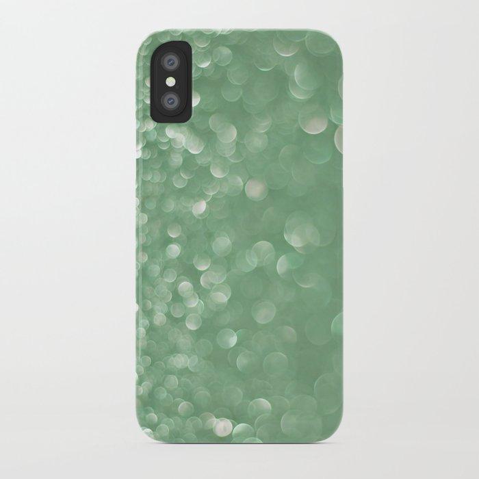 Seafoam bokeh iPhone Case