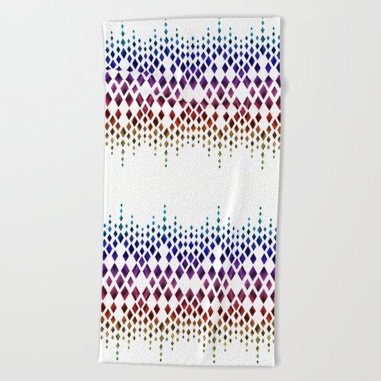 Colorful geometric pattern. Beach Towel