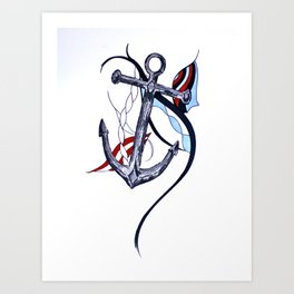 Tara's Tied Down Art Print