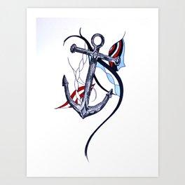 Tara's Tied Down Art Print