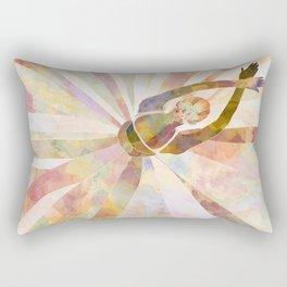 Sleeping Ballerina Floral - Gold Summer Palette Rectangular Pillow