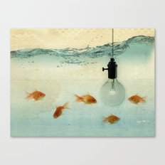 Fishing for ideas Canvas Print