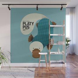 Hello Platypus Wall Mural