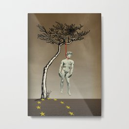 the truth is dying · humanity Metal Print
