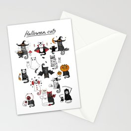 Halloween Cats In Terrible Imagery Stationery Cards