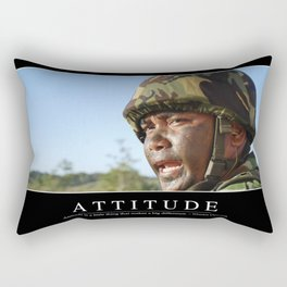 Attitude: Inspirational Quote and Motivational Poster Rectangular Pillow