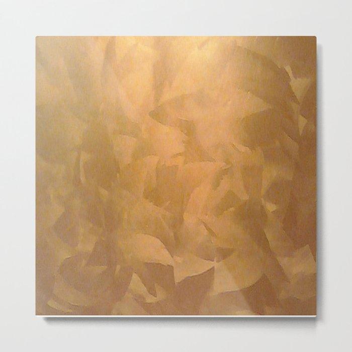 Brushed Copper Metallic - Beautiful - Rustic Glam - Fancy Faux Finishes - Metallic Paint Metal Print