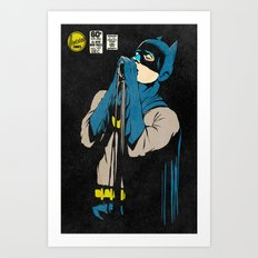 Karaoke Bat-Man Art Print