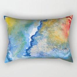 Abstract No. 6, Rain Rectangular Pillow