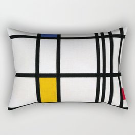 Piet Mondrian Composition in Red, Blue,and Yellow Rectangular Pillow
