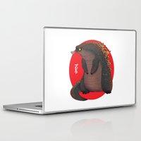 godzilla Laptop & iPad Skins featuring GODZILLA by olivier silven