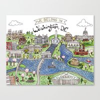 dc Canvas Prints featuring Washington DC by Brooke Weeber