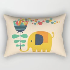 Elephant with giant flower Rectangular Pillow