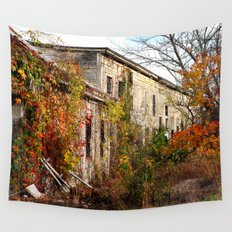 Somewhere in Rhode Island - Abandoned Mill 001  Wall Tapestry