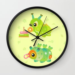 Baby Caterpillar Wall Clock