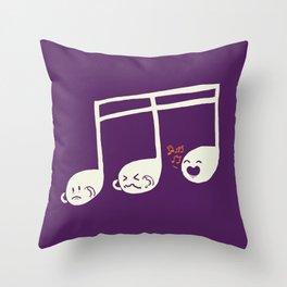 Sounds O.K. (off key) Throw Pillow