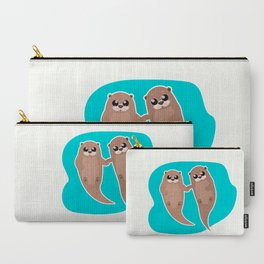 Cute Otters - Cuddle Party Carry-All Pouch