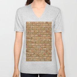 Vintage Brick Wall Unisex V-Neck