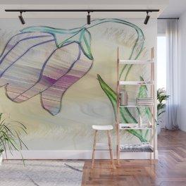 Tulip homespun Wall Mural